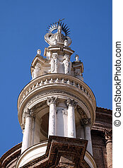 The bell tower of Basilica di Sant Andrea delle Fratte, Rome...