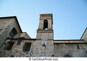 The bell tower of the Narni Cathedral