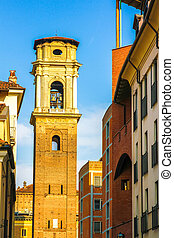The bell tower of Turin Cathedral in Torino