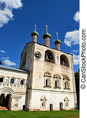 The belltower of the Borisoglebsky monastery in Rostov the Great, Yaroslavl Oblast, Russia