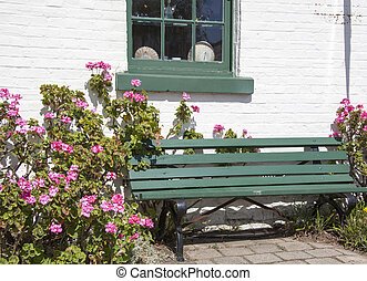 The Bench Among Flowers