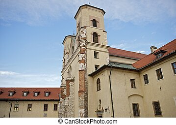 The Benedictine Abbey in Tyniec, Poland (Near Krakow). Central Europe. According to the local tradition the Abbey was founded in 1044 by Casimir the Restorer. Horizontal Photography.