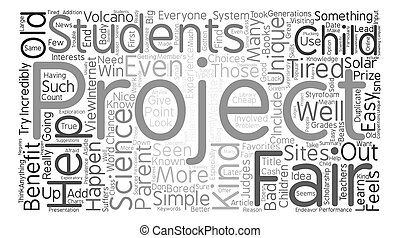 The Benefits Of Unique Science Fair Projects Word Cloud Concept Text Background