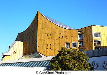 the Berliner Philharmonie is a concert hall in Berlin, Germany