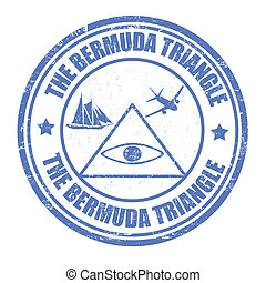 The Bermuda Triangle stamp - The Bermuda Triangle grunge...