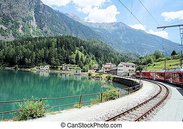 The Bernina Railway in Grisons