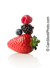The berry pyramid of health. - A Colourfull pyramid made of...