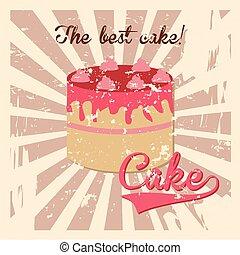 the best cake design - the best cake design over grunge...