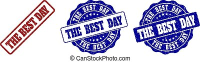 THE BEST DAY Scratched Stamp Seals