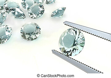 The Best Diamond - Choosing the best diamond of all. Concept...