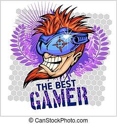 The Best Gamer - T-Shirt Design Vector - The Best Gamer - ...