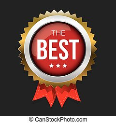 The Best gold badge vector