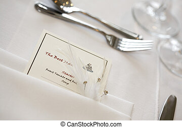 The Best Man's place setting