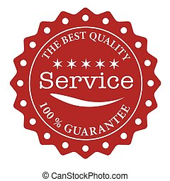 the best of quality service grunge stamp with on vector...