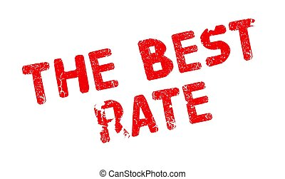 The Best Rate rubber stamp