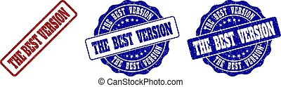 THE BEST VERSION Grunge Stamp Seals