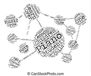 The Best Way To Learn The Piano Word Cloud Concept Text...