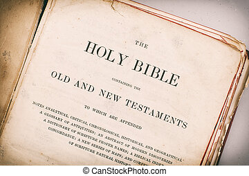 The Bible - Age effected Bible and scriptures.