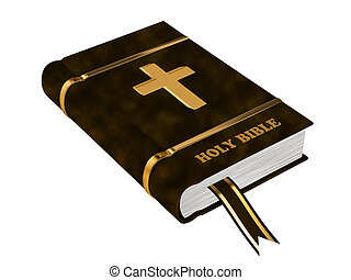 The Bible on a white background