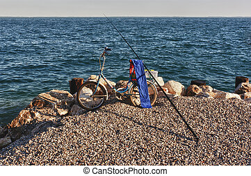 The bicycle of the fisherman