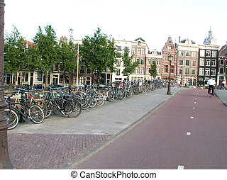The  bicycles in Amsterdam