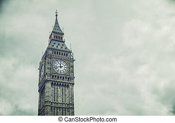 The Big Ben and Houses of Parliament in London