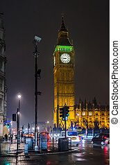 The Big Ben at night, London, UK