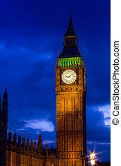 The Big Ben by night, London, UK