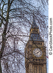 The Big Ben, Houses of Parliament, Westminster, London