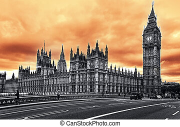 The Big Ben, the Houses of Parliament, London