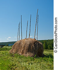 The big haystack on the meadow
