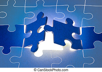 The big opportunities - Dark blue puzzles. It is a metaphor...