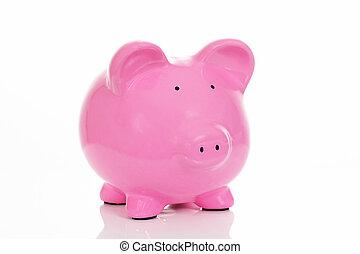 the big pink piggy bank