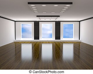 The big room - Room with the big windows