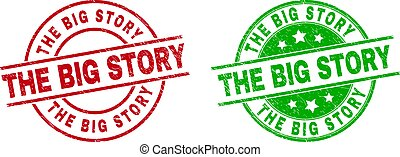 THE BIG STORY Round Watermarks with Grunge Surface