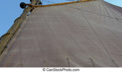 The big white cloth for sailing of the big ship