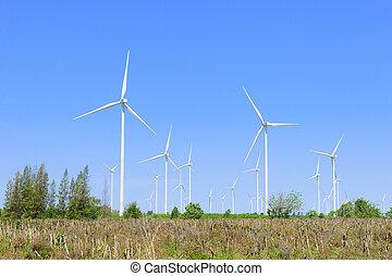 The big wind turbine farm