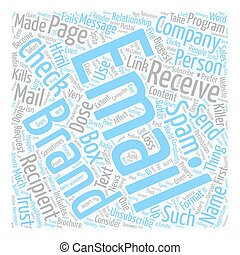 The Biggest Email Brand Killers 1 text background wordcloud concept