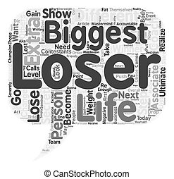The Biggest Loser text background wordcloud concept