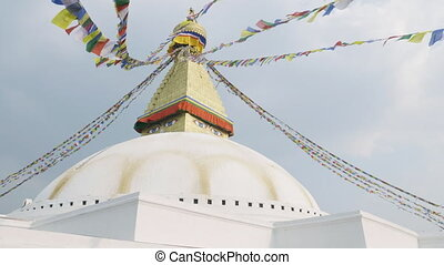 The biggest Stupa Boudhanath in Kathmandu valley, Nepal