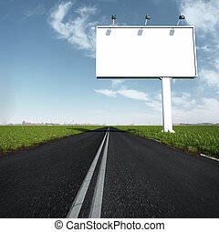 the billboard and road outdoor. 3d render