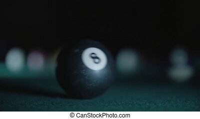 The billiard ball number 8th in smoke1