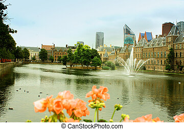 The Binnenhof is a complex of buildings in the city centre of The Hague, next to the Hofvijver lake
