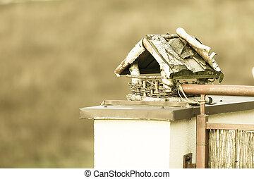 the bird feeder house outdoor