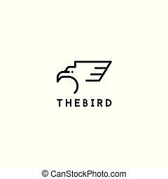 The bird logo icon