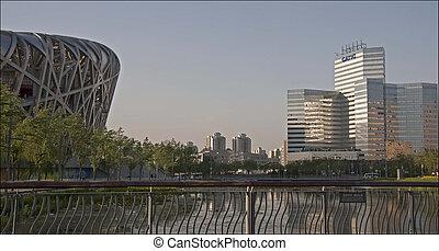 The Bird's Nest stadium in Beijing, China