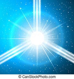 The birth of a supernova - Futuristic Space Illustration