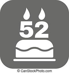 birthday candle number 52 birthday candle number with flame eps