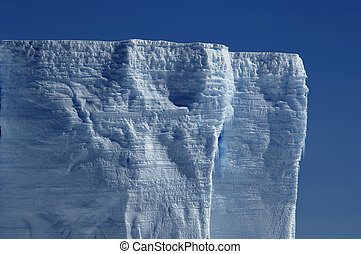 Antarctic ice shelf - The bizarre Antarctic ice shelf in the...