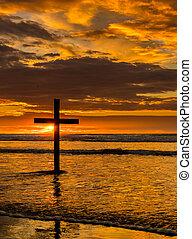 The Black Cross Sunset Beach
